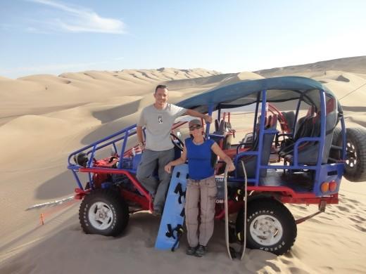 Nazca - sand boarding
