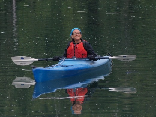 Josie kayaking