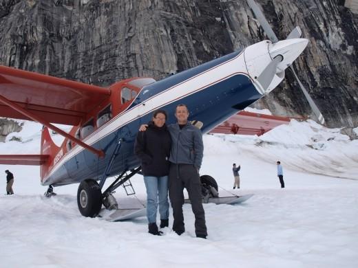Flying with Talkeetna Air Taxi - Glacial landing