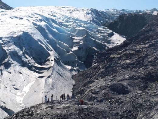 Exit Glacier - edge of the Glacier