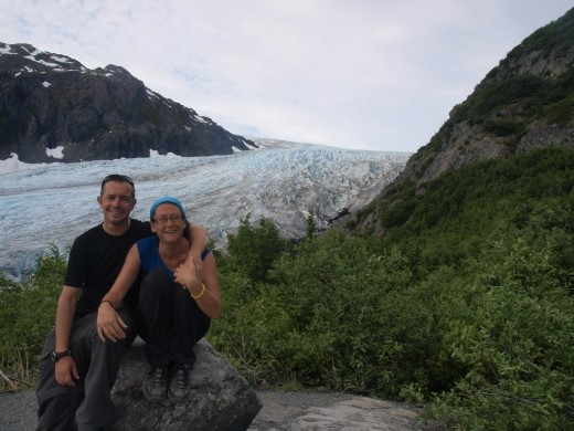 Harding Ice Field Trail - first rest stop