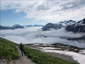 Harding Ice Field Trail - above the cloudline: by dannygoesdiving, Views[93]