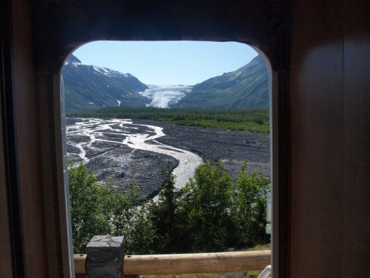 Exit Glacier - view looking out from camper