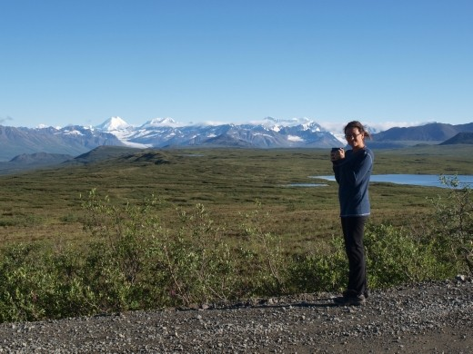 Denali Highway - view from our camper when we awoke