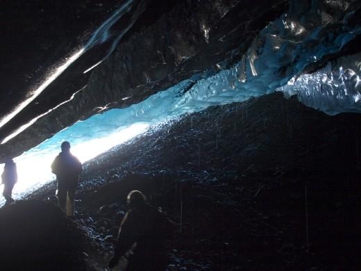 Ice Caving under Root Glacier
