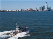 Armed coastguard travels alongside the ferry !: by dannygoesdiving, Views[210]
