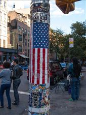 The lamp pole mosaic trail in East Village between Broadway and 8th: by dannygoesdiving, Views[257]