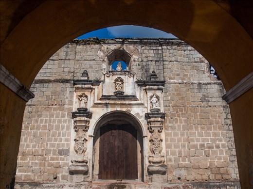 Antigua - Santa Clara viewed through Union tank (public laundries)