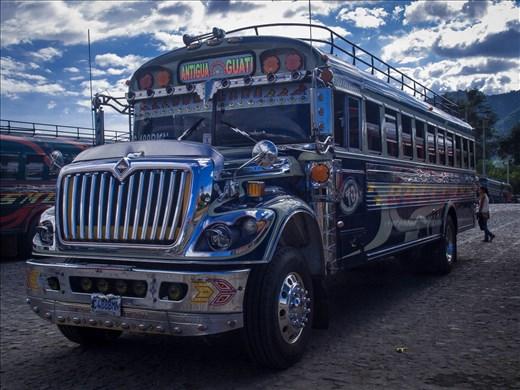 Antigua - chicken buses