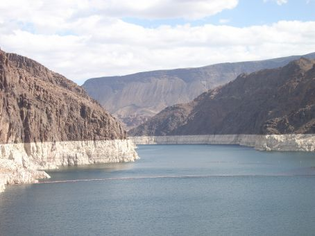 Colorado River - held back by the Hoover Dam
