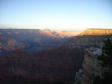 The Grand Canyon at sunset - South Rim