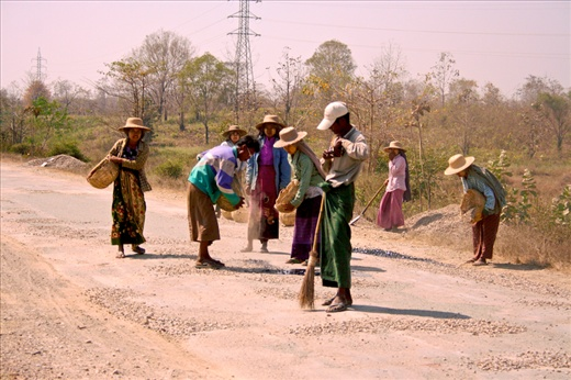 Villagers are freely used as Labor by the Military junta.People dream for better
