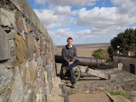 Colonia town walls, sheltering from the wind