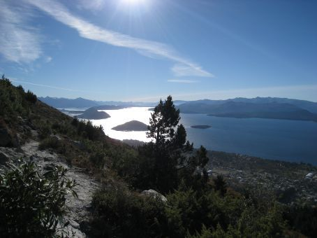 Bariloche. View out onto one of the lakes.