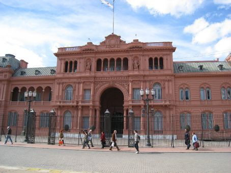 Pink Palace (BA) where Madonna and Jonathon Price did lots of singing. Or it could have been Evita.