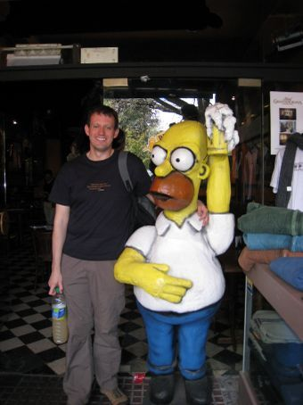 Meeting my hero in a pub in Buenos Aires.