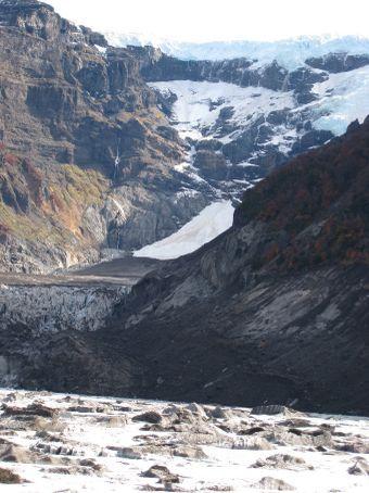 Mt Tronador, retreating Glacier.