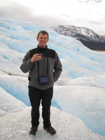 Having a whiskey on the top with glacial ice. Did not make scotch any easier to drink though.