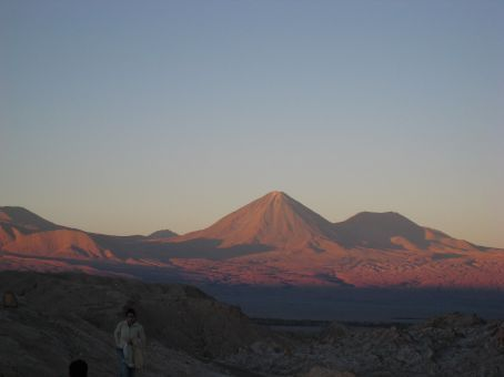 Sunset on the Andes.