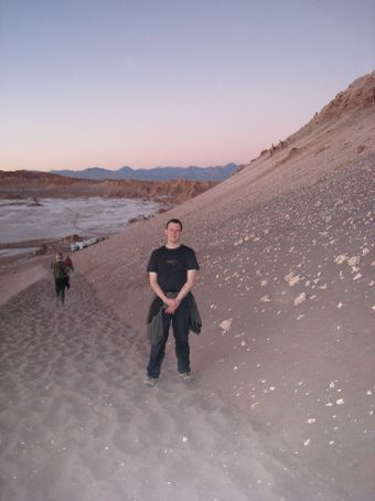 Just climbed this sand dune to see the sunset.