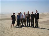 Our group on the dunes. I still have sand everywhere.: by dave_sarah, Views[179]