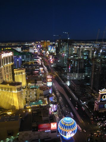 The Strip. Looking south from the top of Paris.