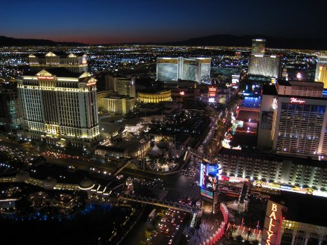 The Strip, looking north.