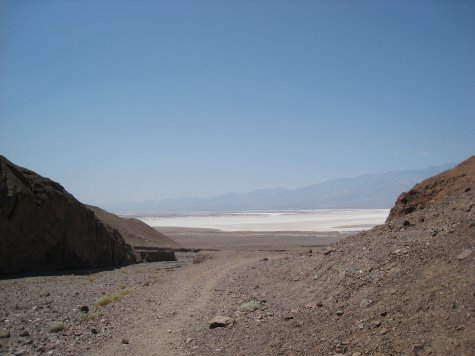 Looking back to the salt-flats.