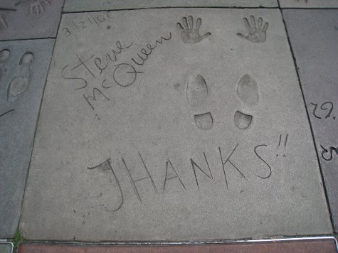 Outside Grauman's Chinease theatre.