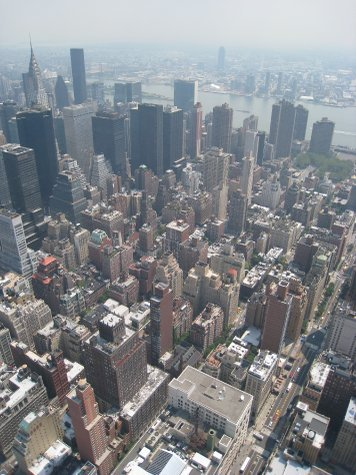 NY NY from the top of the Empire State building.