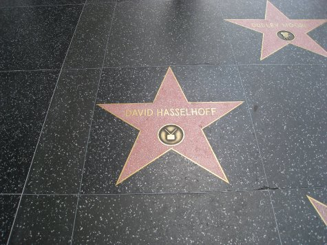Could not leave Hollywood without finding 'The Hoff'.
