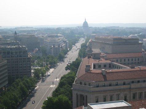 Pennsylevania Av to the Capitol.