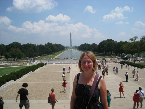 Outside the Lincoln memorial.
