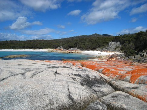 Bay of Fires. We had the whole beach to ourselves.