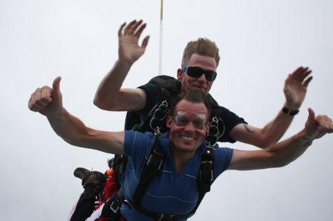 Just jumped out the plane at 14,000 ft.