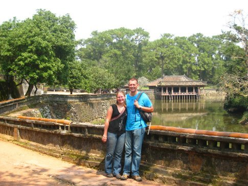 Tu Duc Tomb, Hue. The 4th emperor built his tomb then used it as a palace. Well, it is a nice spot.