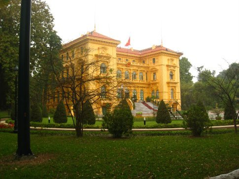 The Presidential palace, Hanoi.