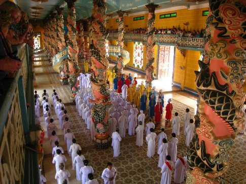 New(ish) religion in Vietnam, Mix of all the major ones. Inside temple/church/mosque/whatever during a service.