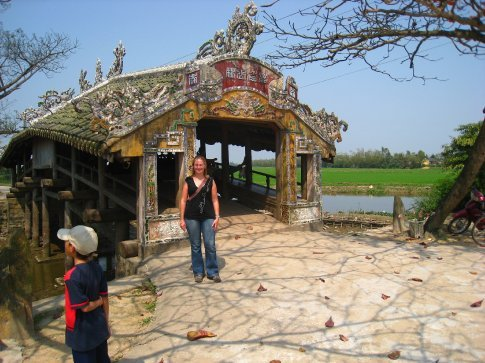 Our 2nd Japanese covered bridge in Vietnam in a week.