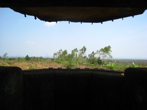 Looking out in the DMZ from a US Marine Corps bunker.