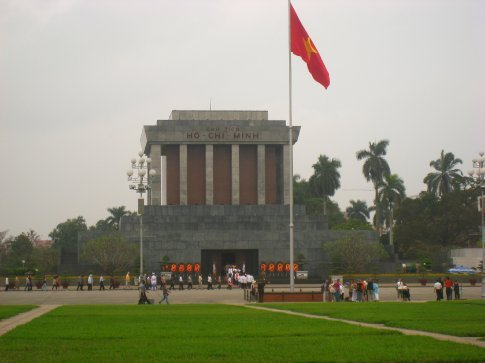 Ho Chi Minh mausoleum. Very strange place as we saw his body lying in state.