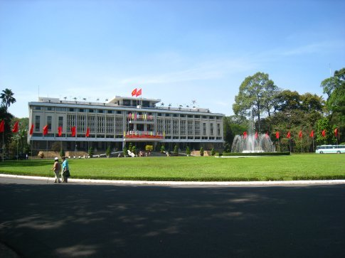 Reunification palace. The old presidential palace of the president of South Vietnam.