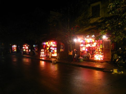Street full of lantern sellers in Hoi An.