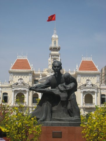 One of many statues of Uncle Ho.