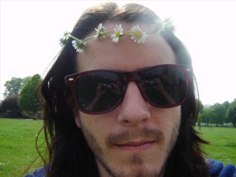 me with a daisy chain on me head
