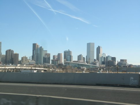 A view of downtown Denver from I25 on the way in.