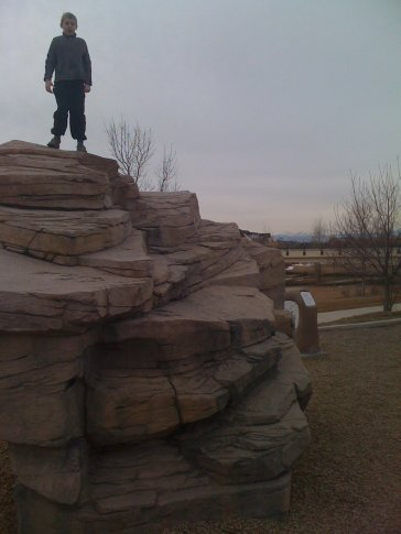 A bit of rock climbing