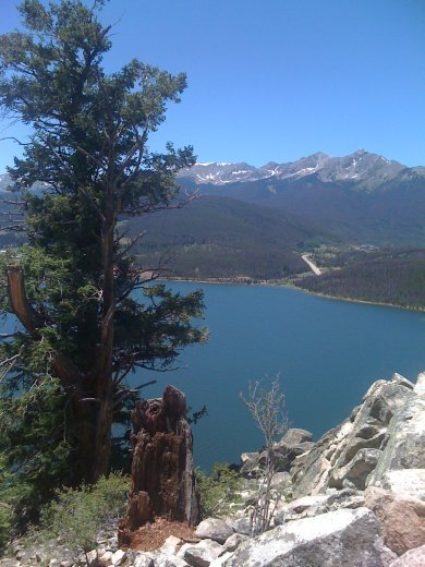 Amazing views of lake Dillon