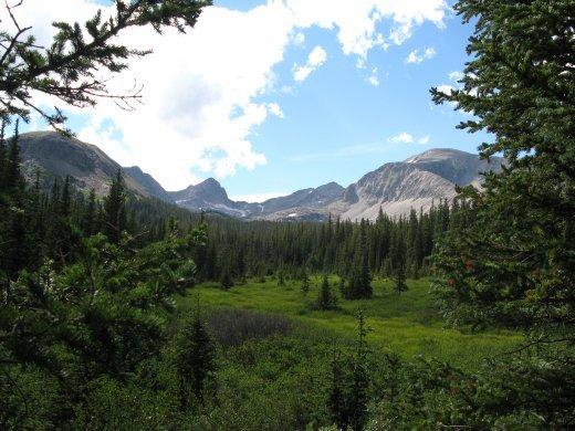Indian Peaks from Brainard Park