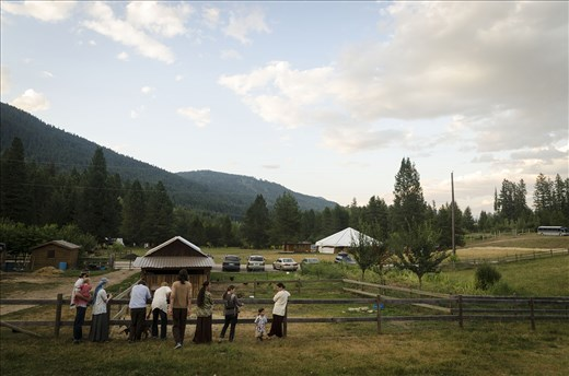 A small group of a large peaceful family, The Twelve Tribes, in Nelson, BC.